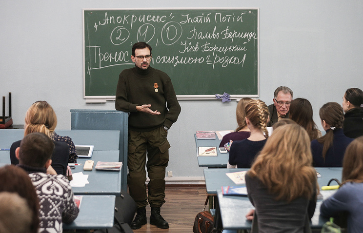 Andrey Lunyov in Donetsk National University