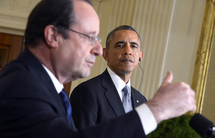 Francois Hollande and Barack Obama