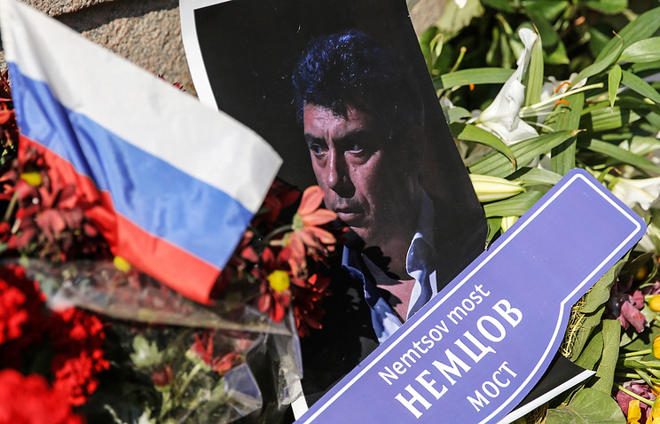 The site of Boris Nemtsov's murder in Moscow