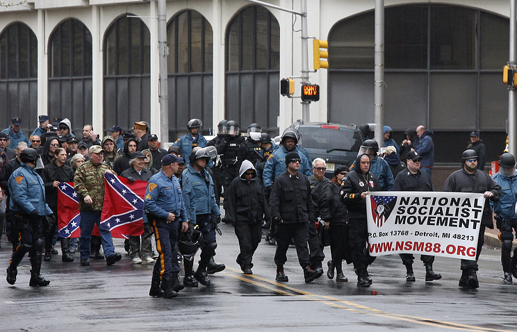 A neo-Nazi rally in the US, 2011 (archive)