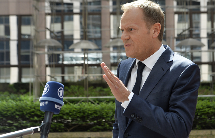 Donald Tusk, the president of the European Council