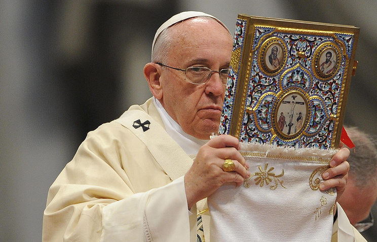 "Pope Francis leads the Mass for the centenary of the Armenian ""martyrdom"""