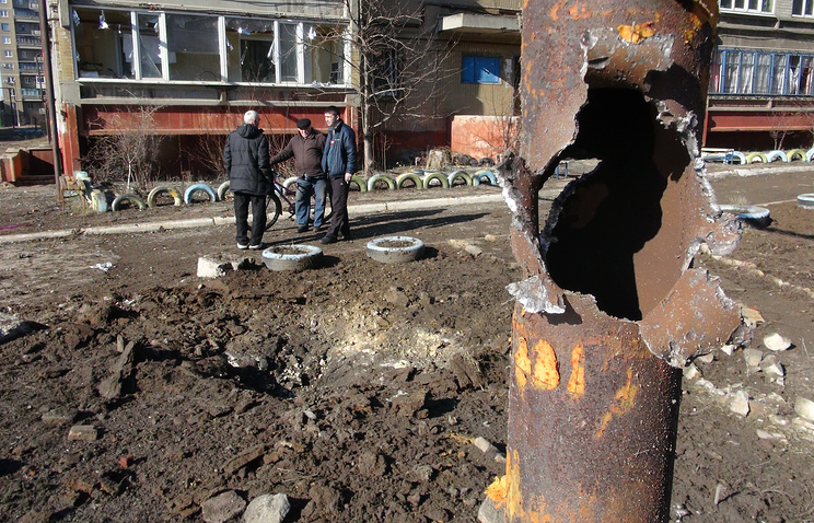 Aftermath of a shelling attack in Gorlovka (archive)