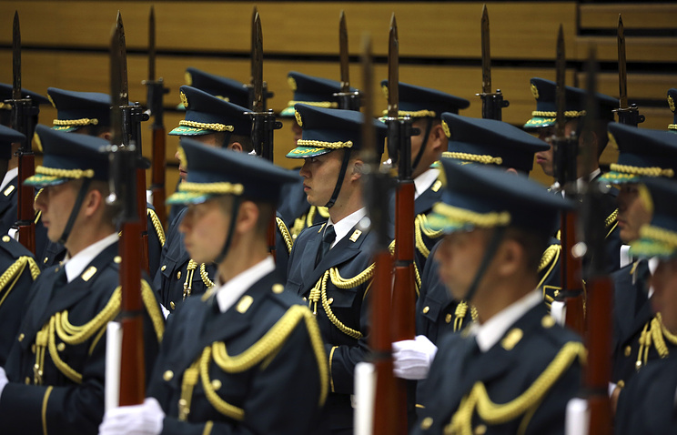 Japanese honor guards