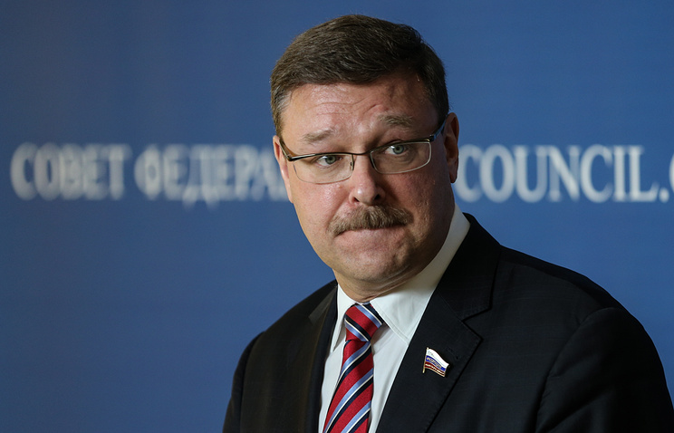 chairman of the foreign policy committee in the upper house of Russian parliament Konstantin Kosachev