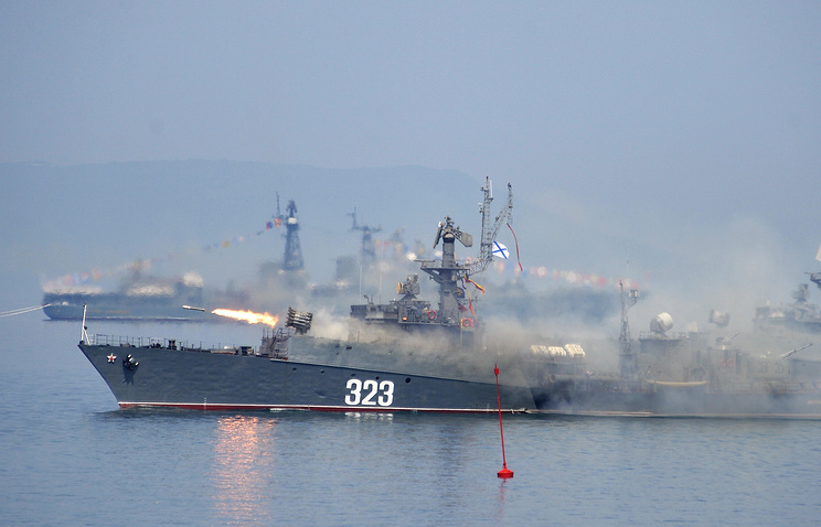 Russian Pacific Fleet ships fire missiles (archive)