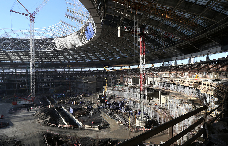 Luzhniki Stadium being reconstructed for 2018 FIFA World Cup