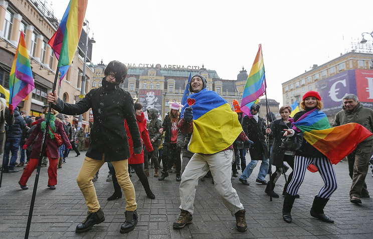 Gay parade in Kiev (archive)