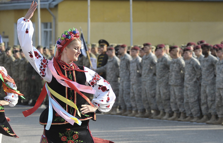 Opening ceremony of NATO military exercises in Ukraine (archive)