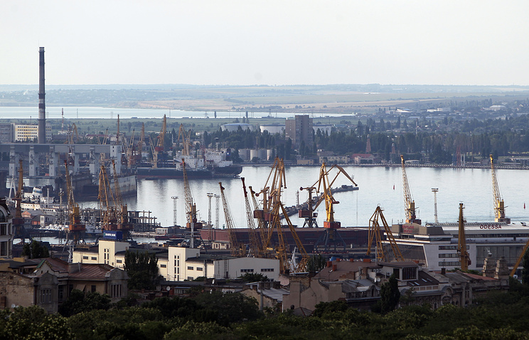 The port of Odessa