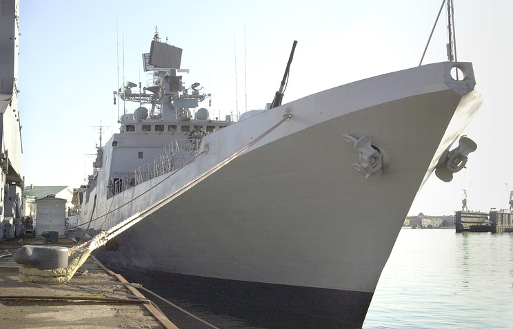 Talwar combat ship constructed in Russia for Indian Navy