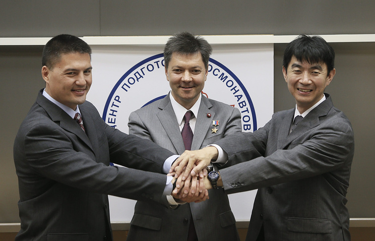 Prime crew of the new mission of the International Space Station, Kjell N. Lindgren, Oleg Kononenko and Kimiya Yui