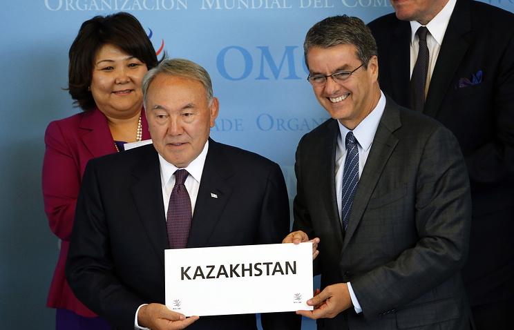 President of Kazakhstan Nursultan Nazarbayev and Roberto Azevedo
