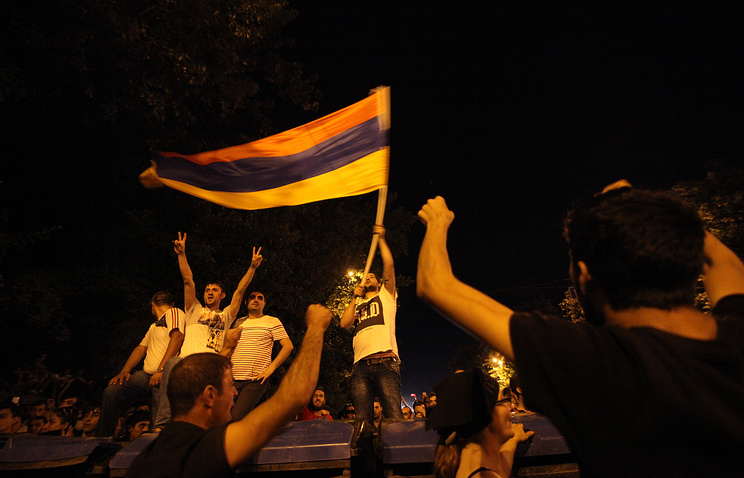Protesters in Yerevan (archive)