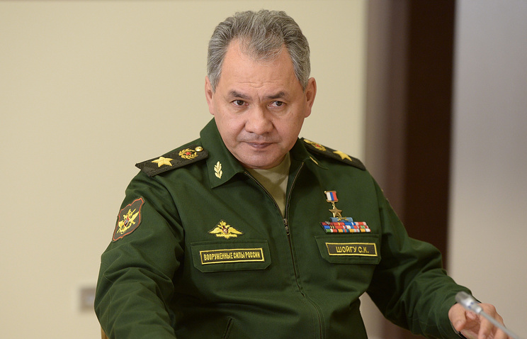Russian Defence Minister Sergey Shoigu