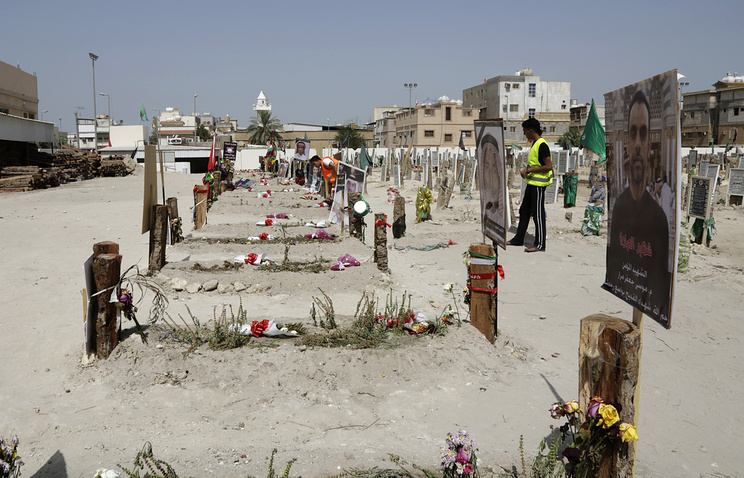 Graves of victims of the mosque terrorist attack