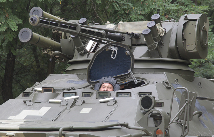 Ukrainian armored military vehicle