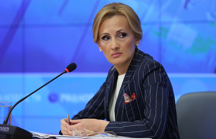 Irina Yarovaya, the chairwoman of the security and anti-corruption committee of the Russian State Duma