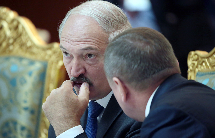 Alexander Lukashenko at the CSTO summit in Dushanbe