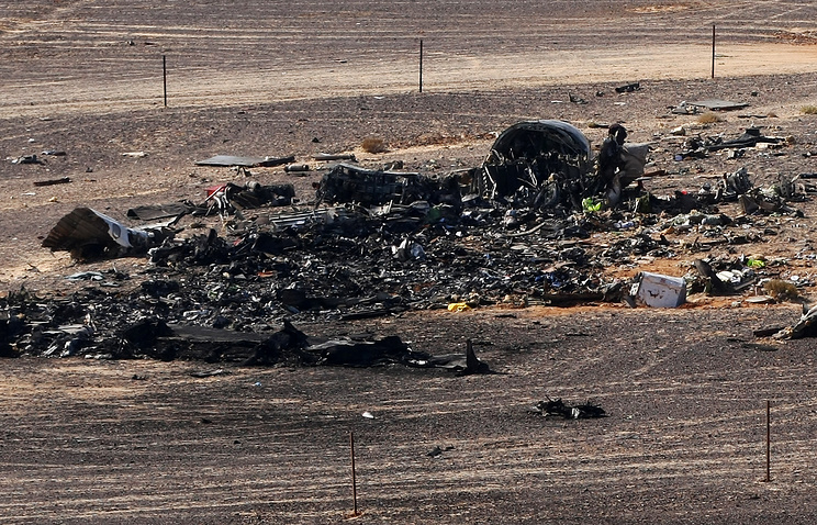 Site of Russian Airbus A321 crash in Egypt's Sinai Peninsula
