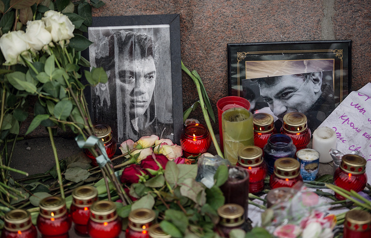 Portrait of Russian politician Boris Nemtsov in central Moscow
