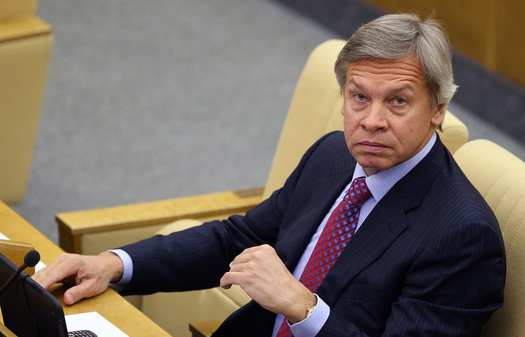 Alexey Pushkov, the head of the Russian State Duma international affairs committee