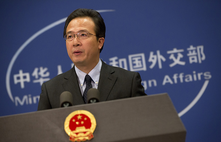 Chinese Foreign Ministry spokesman Hong Lei