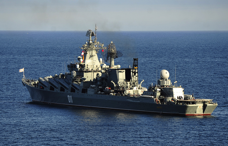 The Varyag guided missile cruiser