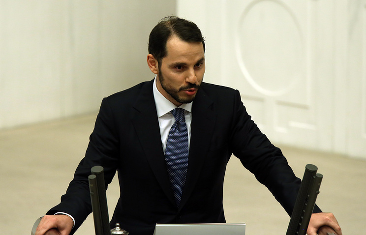 Turkey's minister of energy and natural resources Berat Albayrak