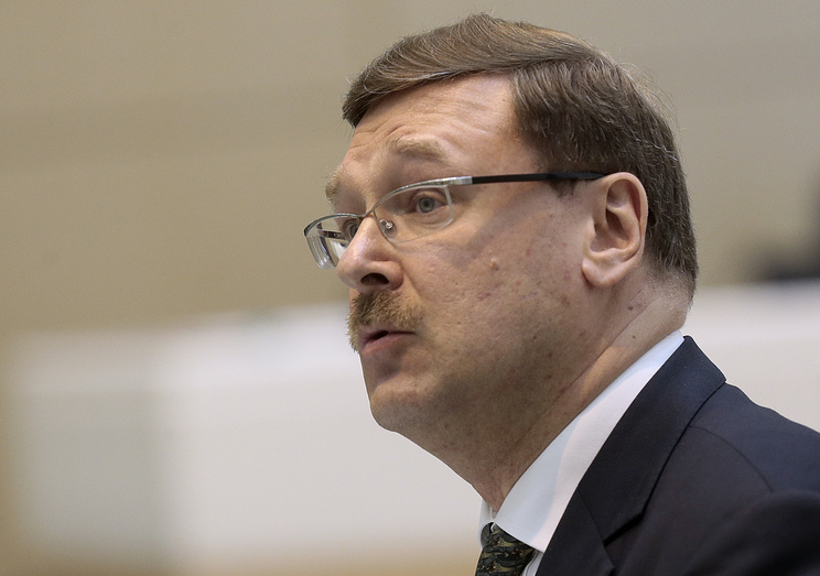Head of the Russian Federation Council Committee on International Affairs Konstantin Kosachev