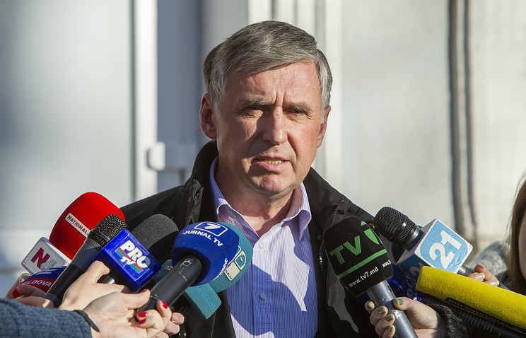 Candidate for prime minister Ion Sturza