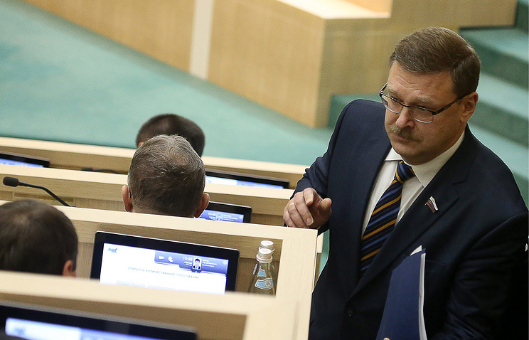 Russian Federation Council lawmaker Konstantin Kosachev