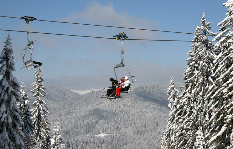 Tourists in Pamporovo, Bulgaria