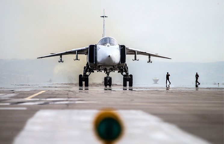 A Russian warplane in Syria