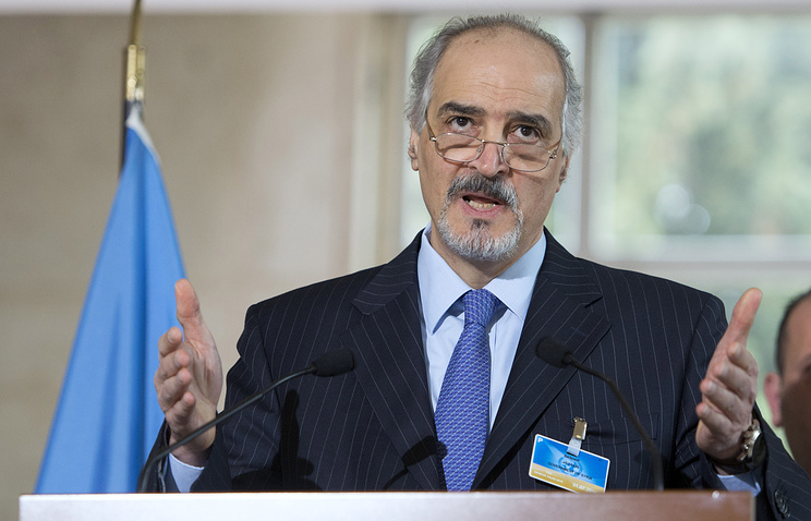 Bashar Jaafari, Syria's chief negotiator at the Geneva talks