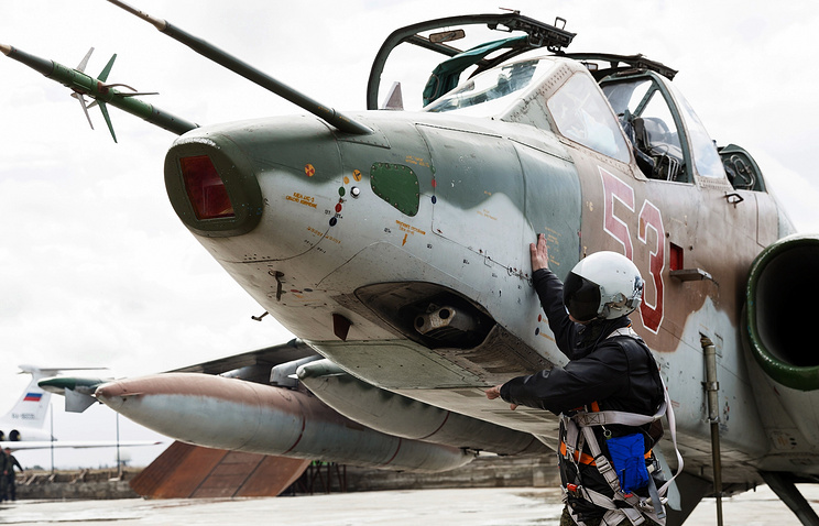 Russia's Sukhoi-25 fighter-bomber