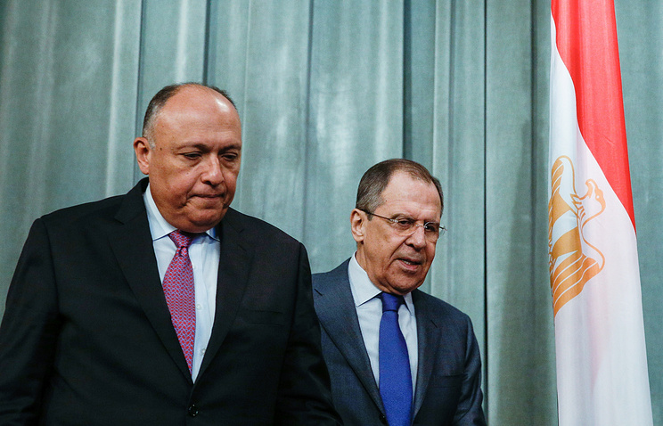 Sameh Shoukry and Sergey Lavrov