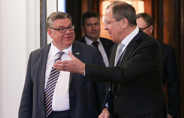 Finnish and Russia's Foreign Ministers, Timo Soini and Sergey Lavrov