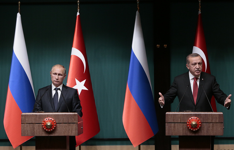 Vladimir Putin and Recep Tayyip Erdogan in December 2014