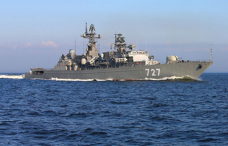 The Russian Yaroslav Mudry frigate