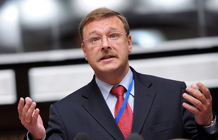 Konstantin Kosachev, the chairman of the international committee of Russia's Federation Council