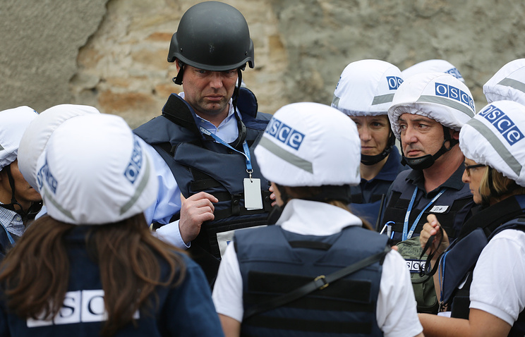 OSCE observers in Donbass (archive)