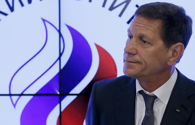 Russia's Olympic Committee head Alexander Zhukov