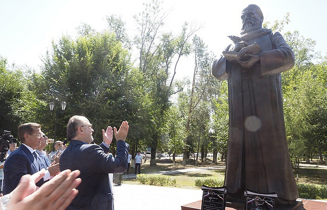 Russia's monument to renowned Persian poet, philosopher, astronomer and mathematician Omar Khayyam