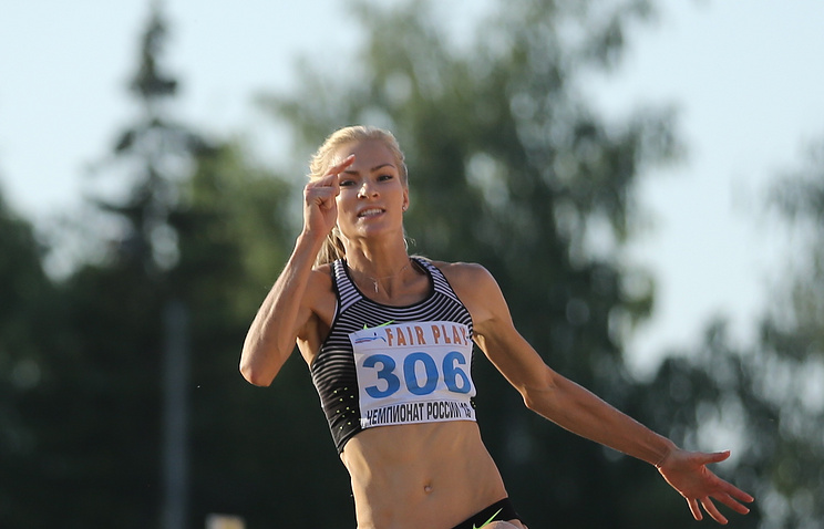 Russian long jumper Daria Klishina