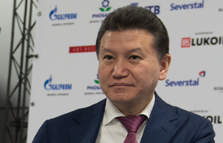 Russia's Kirsan Ilyumzhinov, the President of the International Chess Federation