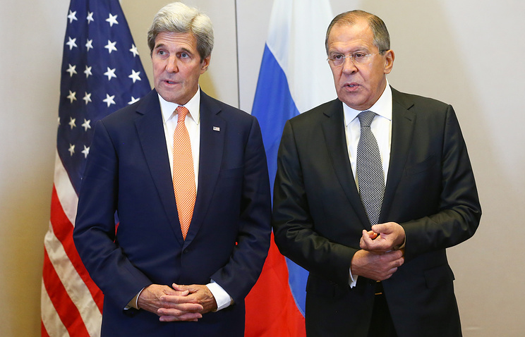 US State Secretary John Kerry and Russian Foreign Ministry Sergey Lavrov