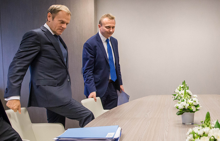 EU council President Donald Tusk ahead of  European Summit in Brussels, Belgium