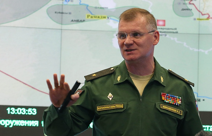 Russian Defense Ministry's official spokesman Igor Konashenkov