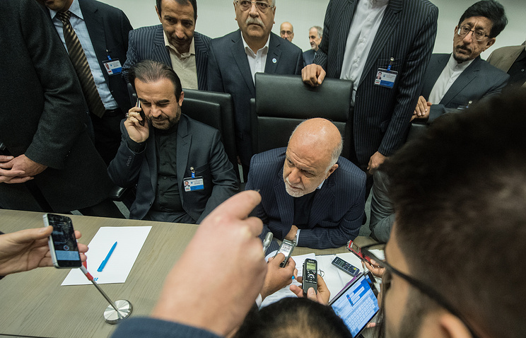 Iran's Oil Minister Bijan Namdar Zanganeh at OPEC meeting in Vienna